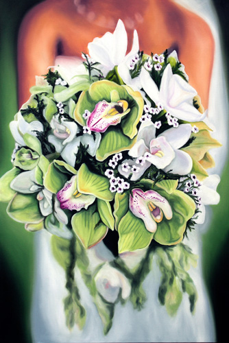 Bridal Bouquet Painting, Commisison