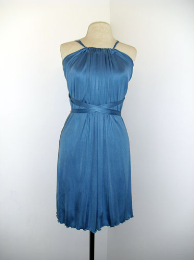 Blue Silk Dress by Maggie Coulombe