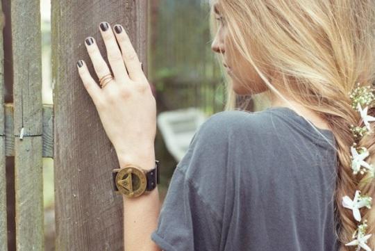 Antique-Sundial-Watch-Hair-Braid