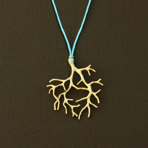 Gold Coral Branch by Nina Kuna