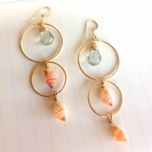 Sunset Shell Earrings by Sophie Grace