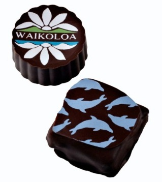wedding and corporate logo custom chocolates