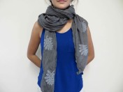 This crinkle cotton scarf is making me consider being a scarf person...