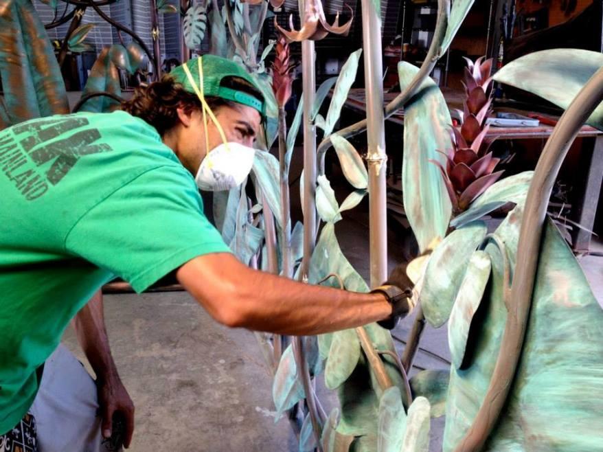 floral metal gate