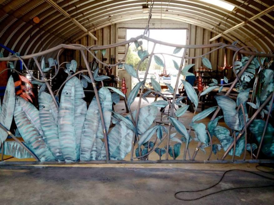 tropical metal decorative gates