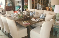 Slip covered furniture- great for families and the island lifestyle