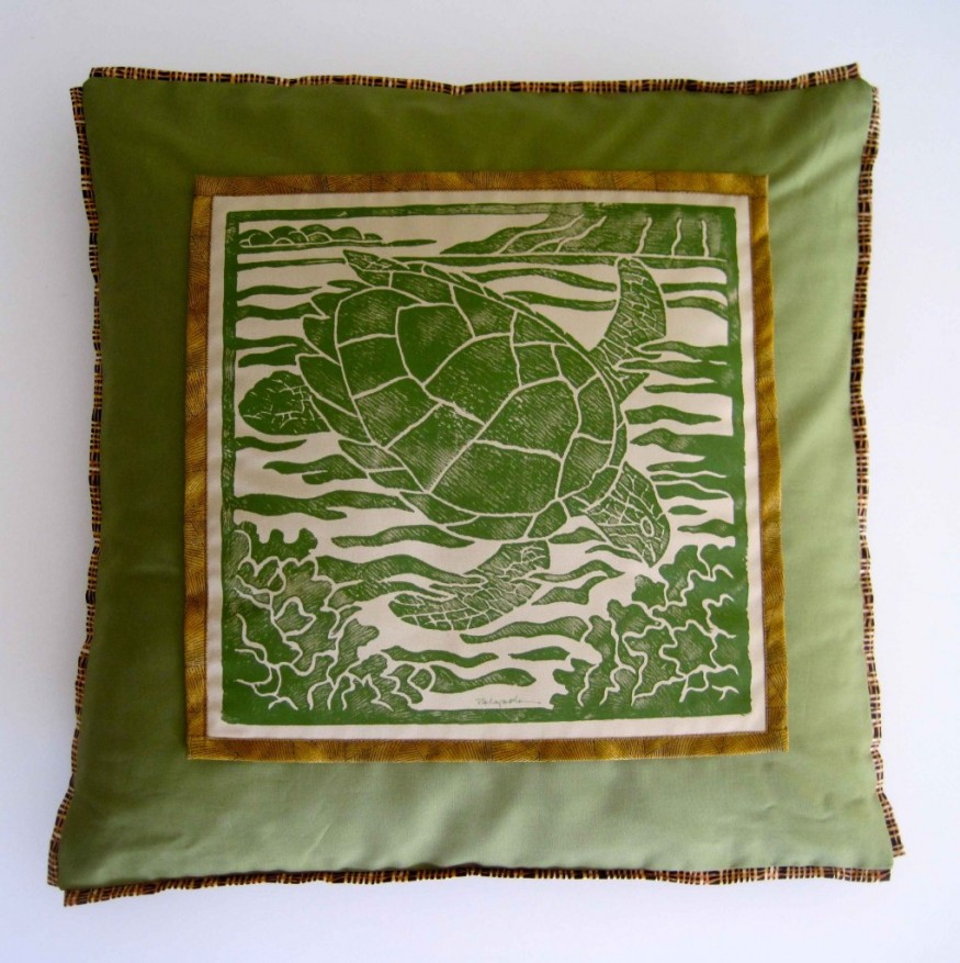green sea turtle hawaii maui art handmade