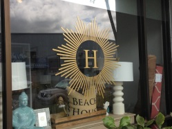 HUE's logo on the shop's window