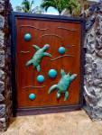 ipe.wood.gate.copper.brass