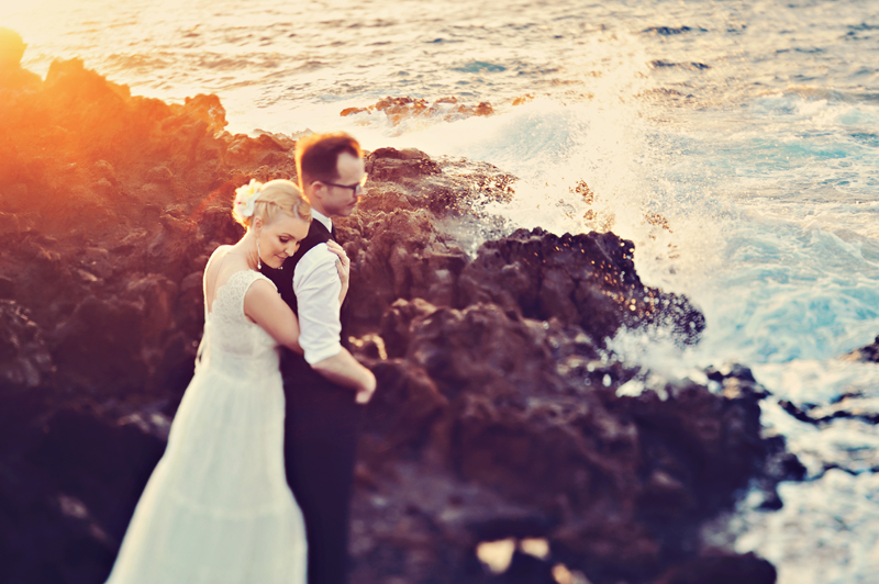 wedding modern vintage maui hawaii photography