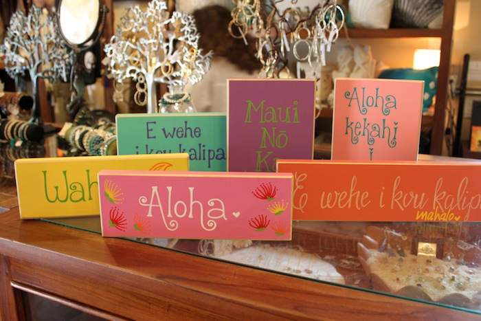 painted wood sign hawaii color
