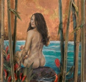 Serenity Painting by Maui Artist Taryn Alessandro
