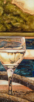 Wine and Spirit Art Painting by Maui Artist Taryn Alessandro