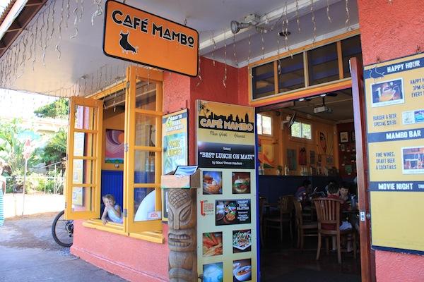 Cafe Mambo Paia Menu