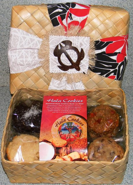 cookie basket made on maui hawaii
