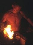 flames at the block rick strini
