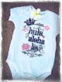hula aloha love baby onesie