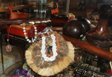 Niihau Shell lei, shark tooth clubs, coconut shells for salt blessings and more...