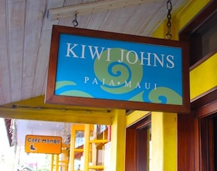 kiwi johns paia maui shop sign shirt