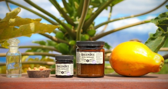 gentle facial scrub made on maui