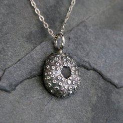Sea Urchin Pendant in Sterling Silver