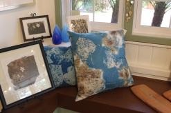 Cyanotype Silk Pillow by Gwen Arkin