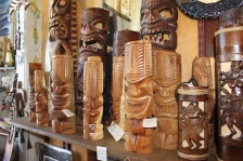 maui made tiki wood carved shop paia