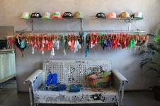 Esky Hats, San Lorenzo Bikinis, and a cute vintage bench