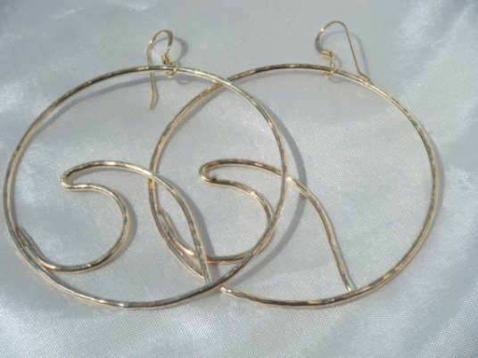 gold wave hoop earrings big statement fall trend