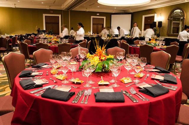 noble chef 2012 table decor florals
