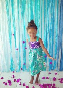 girls dress purple butterflies