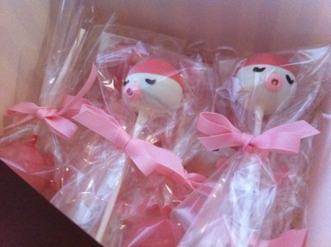 cake pop party favors