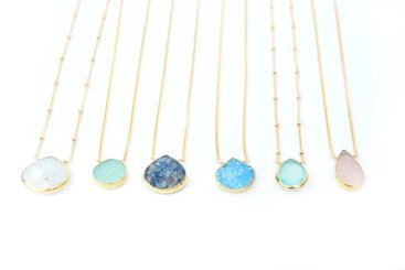 dramatic druzy necklaces