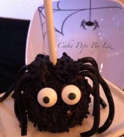 spider cake pop halloween