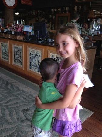 What a fun day exploring the tropical plantation! just had to give sister a hug....