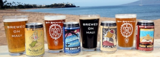 maui beer cans beach