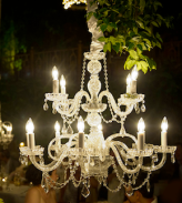 chandelier wedding elegance maui hawaii