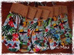 Hawaiian Stockings by Happy Honu Maui