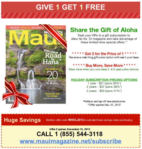 Maui  Magazine Gift Idea Hawaii