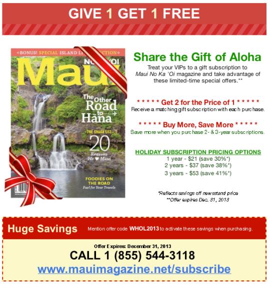 Maui  Magazine Gift Idea Hawaii