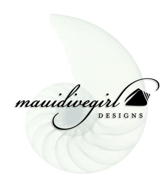 maui dive girl jewelry design hawaii seashell