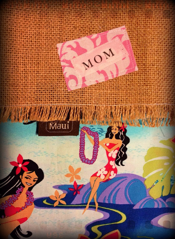 maui hawaii stocking christmas fabric handmade