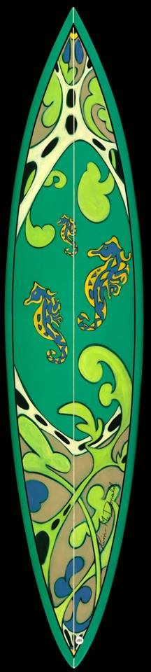 kim mcdonald custom surfboard