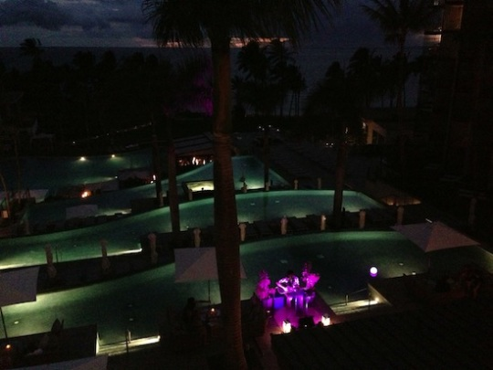Andaz Maui Wailea Pools Sunset Night