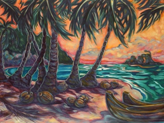 Kim McDonald Artist Maui Painting