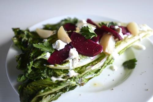 grilled romaine salad beets onion maui