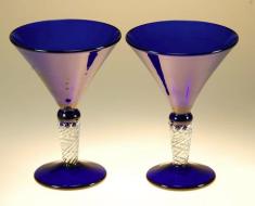 Blue Martini Glasses