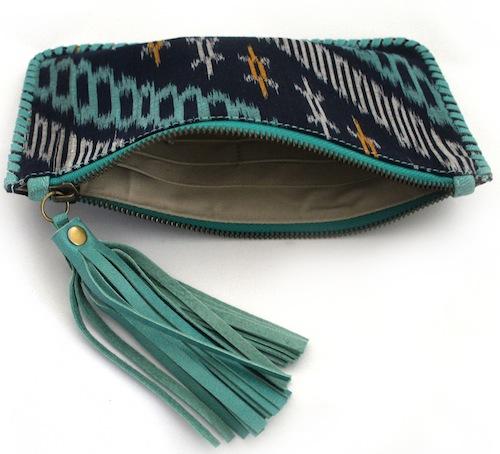 inside a wallet purse