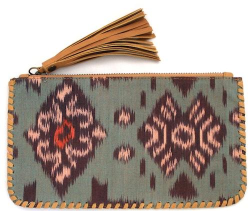 tiger rose wallet purse tan
