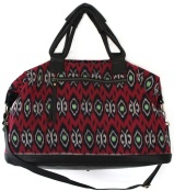 The Ubud Weekender Duffle in Black/Red